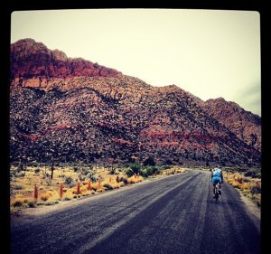 cycling red rocks